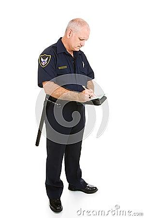 Bilet do pisania policjanta.