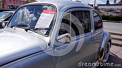 Bilfestival i staden av Tula Rysk federation Sommar 2015 stock video