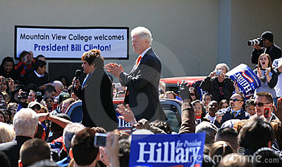 Bill Clinton in Dallas Editorial Image