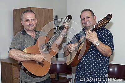 Bill and Edwin Colon Zayas visit Yomo Toro Editorial Photography