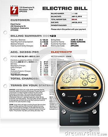 Bill eléctrico con vector contrario eléctrico