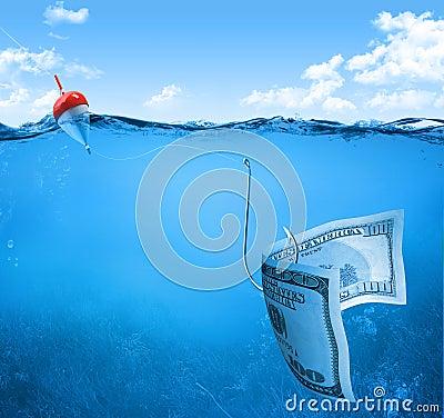 Bill on fishhook
