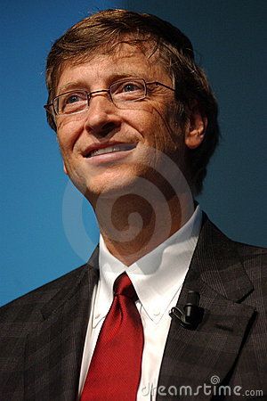 Bill Gates Redactionele Stock Afbeelding