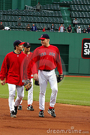 Bill Mueller and Curt Schilling Editorial Stock Image