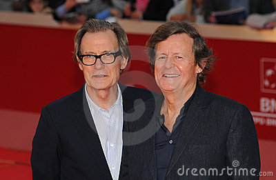 Bill Nighy, David Hare Editorial Image