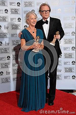 Bill Nighy, Helen Mirren Editorial Stock Photo