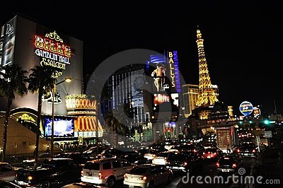 Bill s, Ballys and Paris - Las Vegas, USA Editorial Photo