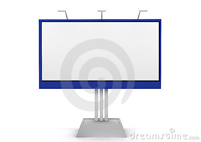 Billboard 3D rendered isolated on white