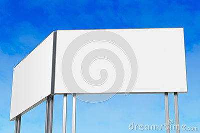 Billboard against blue sky