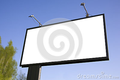 Billboard against the sky