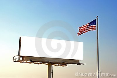 Billboard and American Flag
