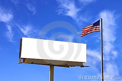 Billboard and American Flag wi