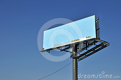 Billboard on blue sky