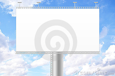 Billboard and blue sky background