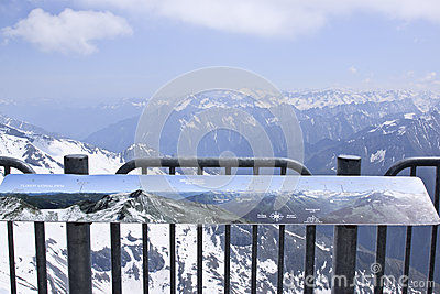 Billboard at the Hintertux Glacier, Austria