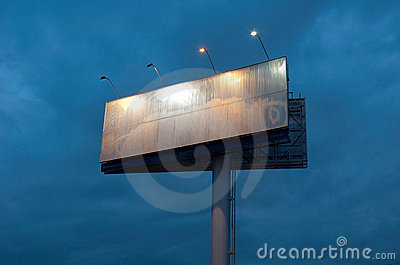 Billboard late in the evening
