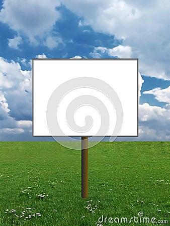 Billboard on a meadow