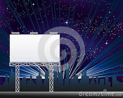 Billboard In The Night Clity