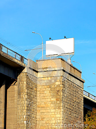 Free Billboard On The Bridge Stock Photo - 26252920