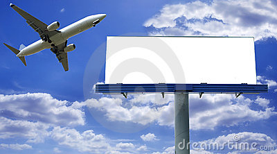 Billboard with plane