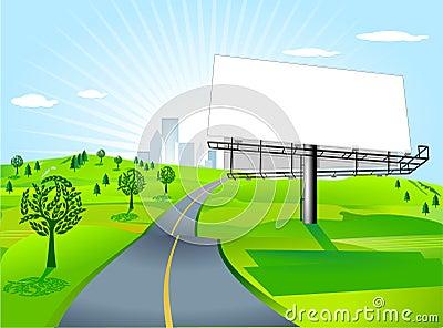 Billboard at the road