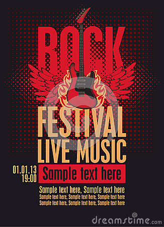 Free Billboard Rock Festival Royalty Free Stock Image - 26554726