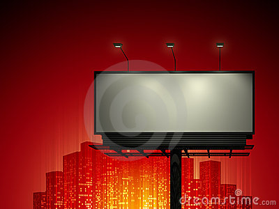 Billboard with urban horizon