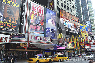 Billboards in times square Editorial Photo