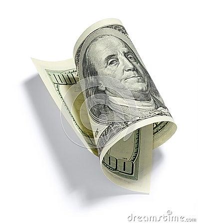 Billdollar hundra en rullade