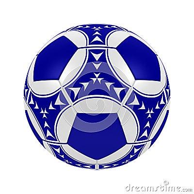 Bille de football bleue
