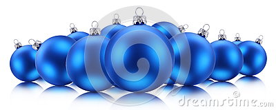 Billes bleues de Noël