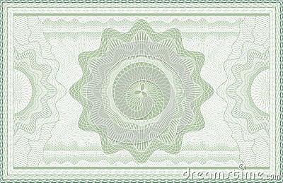 Billet de banque de guilloche