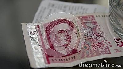 Billet de banque des levs bulgares clips vidéos