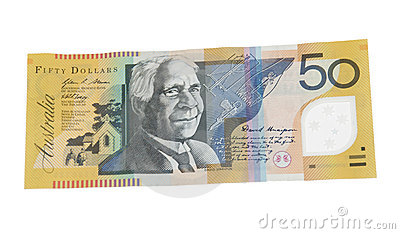 Billete de banco del dólar australiano 50