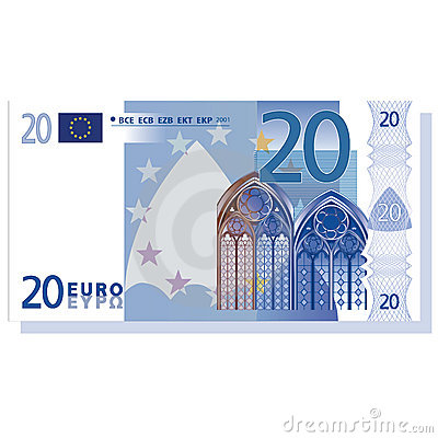 Billete de banco del euro 20