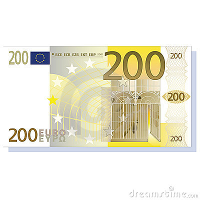 Billete de banco del euro 200
