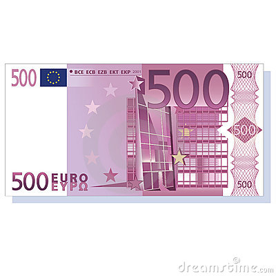 Billete de banco del euro 500