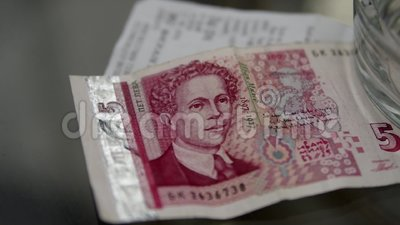 Billete de banco de levs búlgaros almacen de video
