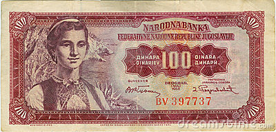 Billete de banco viejo