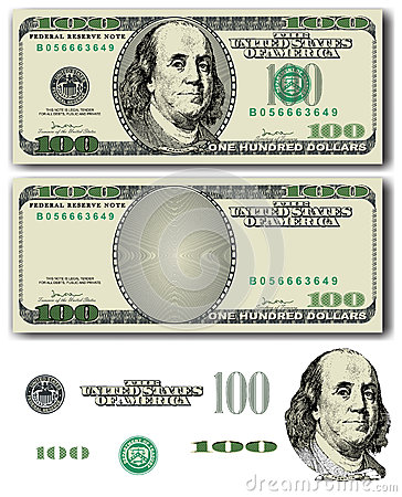 Billete de dólar 100