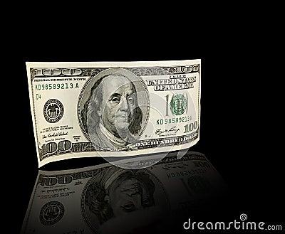 Billete de dólar de los E.E.U.U. ciento