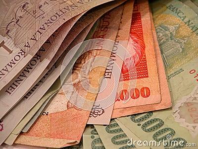 Billetes de banco y cuentas