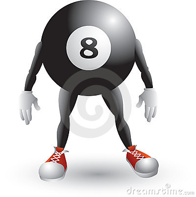 Billiard ball cartoon character