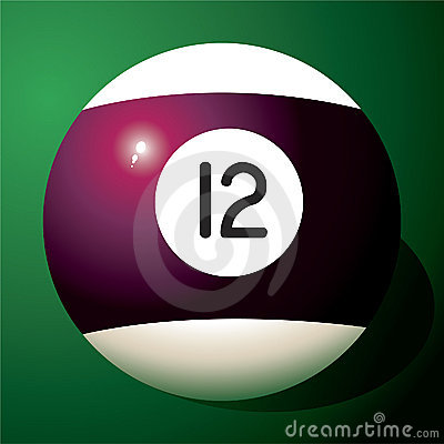 Free Billiard Ball Number 12 Royalty Free Stock Images - 12179919