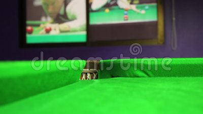 Billiard Ball Rolling Into A Hole On A Pool Table Stock Video - Rolling pool table