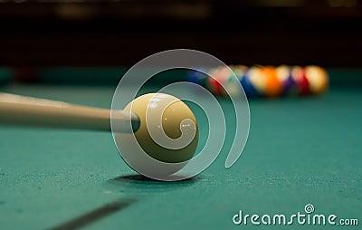 Billiard game ready to break 6
