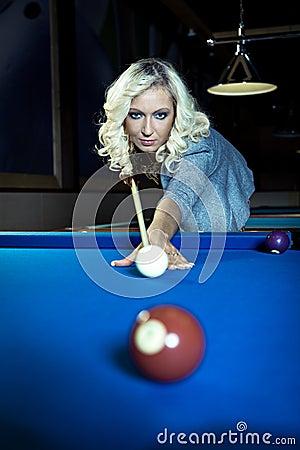 Billiard girl