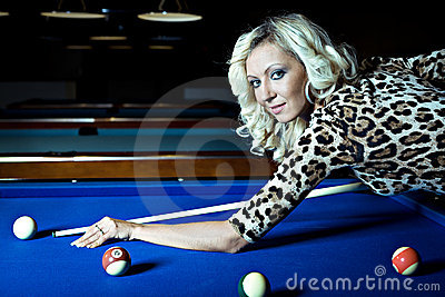 Billiard girl