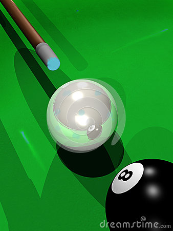 Billiard playing