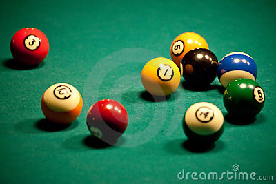 Billiard - pool balls